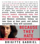 Because They Hate: A Survivor of Islamic Terror Warns America (Unabridged) Audiobook, by Brigitte Gabriel