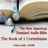 The Book of 1st Corinthians: The Voice Only New American Standard Bible (NASB) (Unabridged) Audiobook, by The Lockman Foundation