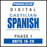 Castilian Spanish Phase 1, Unit 16-20: Learn to Speak and Understand Castilian Spanish with Pimsleur Language Programs Audiobook, by Pimsleur