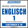 ESL German Phase 1, Unit 06-10: Learn to Speak and Understand English as a Second Language with Pimsleur Language Programs Audiobook, by Pimsleur