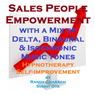 Salespeople Empowerment - with a Mix of Delta Binaural Isochronic Tones: Three-in-One Legendary Hypnotherapy Session Audiobook, by Randy Charach