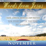 Words from Jesus: November: A Reading for Every Day of the Month, by Simon Peterson